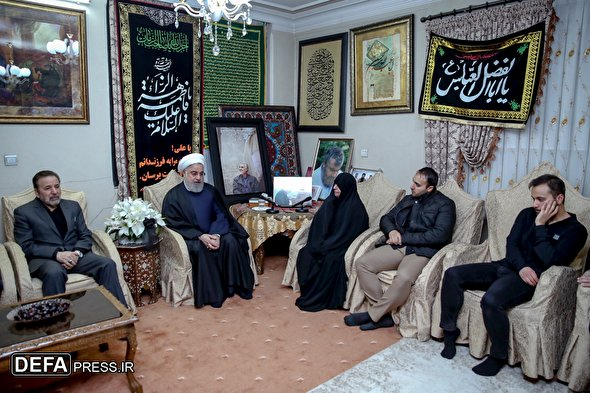 Pres. Rouhani visits martyred General Soleimani's family